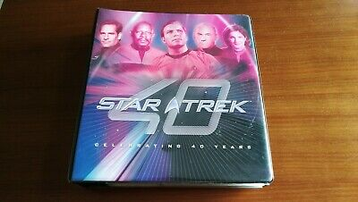 STAR TREK 40th Rittenhouse base set, chase sets, custome cards & binder