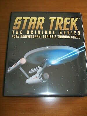 STAR TREK THE ORIGINAL SERIES TOS 40th Anniversary Series 2 Base Set & binder