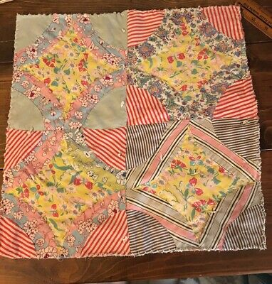 PrimiTive FARMHOUSE Spring EASTER Shelf CANDLE MAT Table Runner FEED SACK Quilt