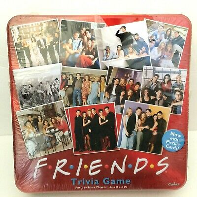RARE Friends TV Show Trivia Game Cardinal Red Collectible Tin New with FLAW READ