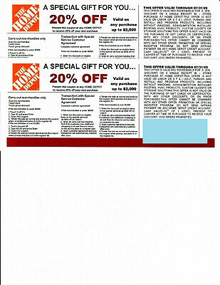 (2) 20% OFF HOME DEPOT Competitors Coupon to use at Lowe's exp 7/31/20