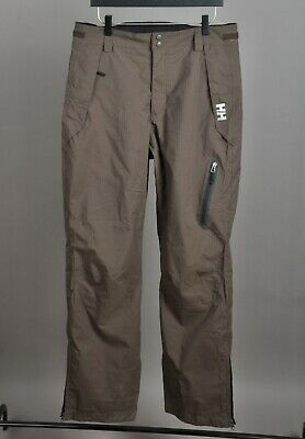 Men's HELLY HANSEN Outdoor Trousers Pants Nylon Brown Zip Fly Hiking Size M