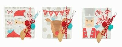 Mud Pie H9 Home Oh So Jolly Paper Napkin & Wooden Butter Spreader Set 40900020