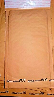 40 Kraft Bubble Envelope Assortment ~ 5 Small Sizes ~ Self-Sealing  Made in USA!