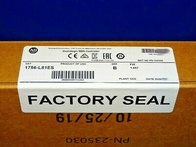 2020 FACTORY SEALED Allen Bradley 1756-L81ES Series B GuardLogix Processor