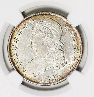 1826 NGC VF35 Capped Bust Silver Half Dollar Overton Very Fine Type Coin