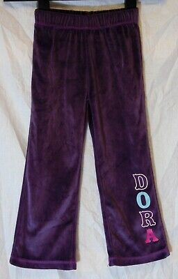 Girls Dora the Explorer Purple Soft Velour Joggers Casual Trousers Age 3-4 Years