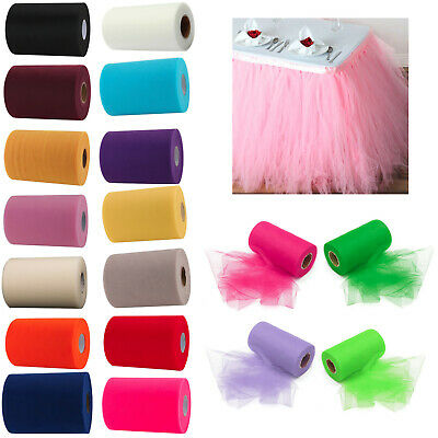 "Tutu Tulle Rolls 6"" Wide x 100 yards Craft Fabric Wedding Netting 100% Nylon"