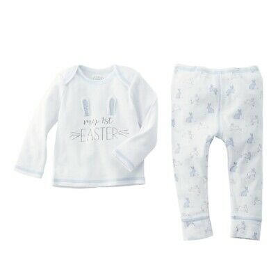 Mud Pie E0 Kids Baby Boy Cotton My First Easter Bunny 2-Piece Pant Set 11010175B