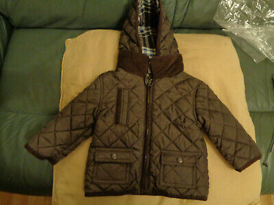 baby boys jacket age 0-6 months brown marks & spencer