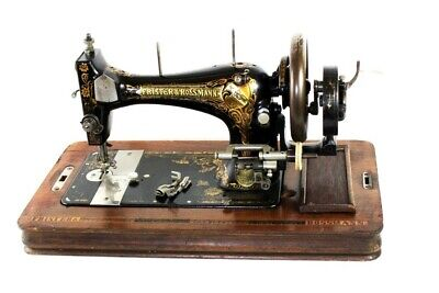 Antique Frister & Rossmann Hand Crank Sewing Machine [5843]