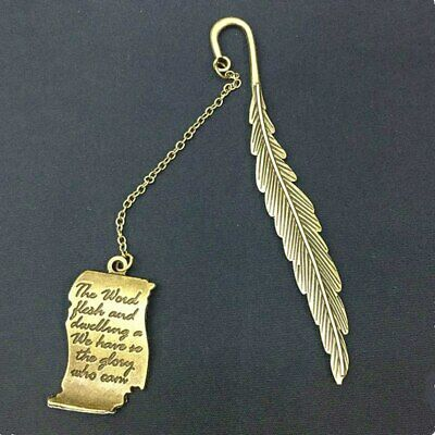 Retro Metal Color Bookmark Feather Metal Stationery Reading Accessory