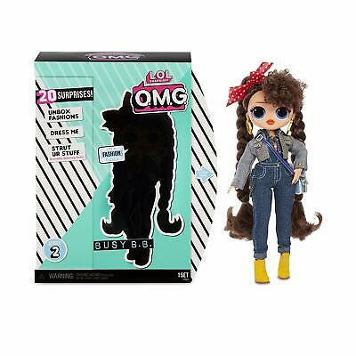 Brand New O.M.G. Busy B.B. Fashion Doll Accessories With 20 Surprises Multicolor