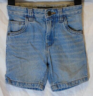 Boys Next Light Blue Whiskered Denim Adjustable Waist Shorts Age 3 Years