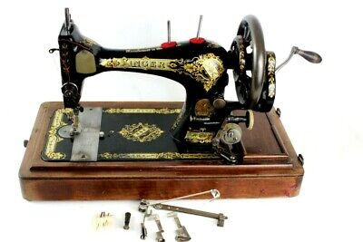 c1901 Singer 28K Hand Crank Sewing Machine [5844]