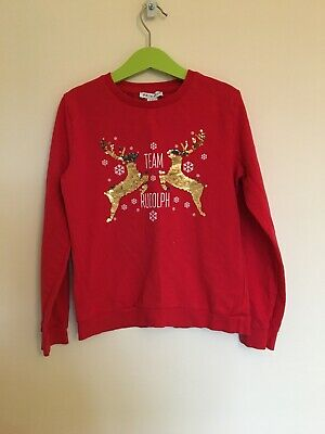 Girls Primark Christmas Jumper Age 9