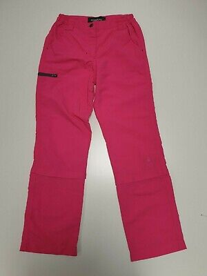 N130 Girls Donnay Bright Pink Hiking Tour Casual Zip Fly Bottoms Age 9-10 Years
