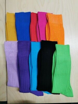 Genus Ribbed Cotton Socks - Choose Your Colour