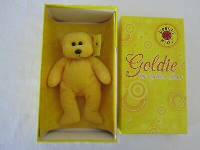 Rare Limited Edition 26cm Boxed Beanie Kid – GOLDIE the Yellow Bear