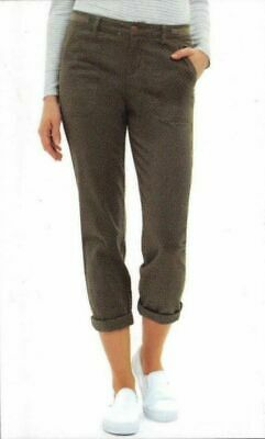 Jones New York Women's 1228565 Rustic Olive The Chino Pants Size 8 Cropped