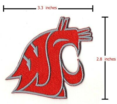 Washington State Cougars NCAA Sport Patches Logo Embroidery Iron,Sewing on Cloth