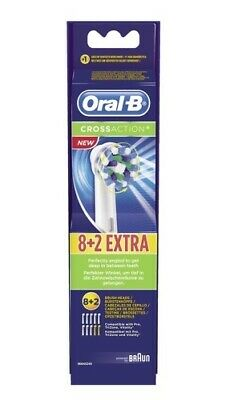 Braun Oral B CROSS ACTION Electric Toothbrush Replacement Heads 100% GENUINE New