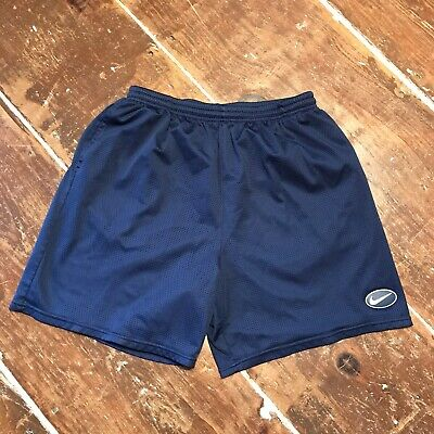 Vintage 90s Nike Athletic Basketball Work Out Gym Mesh Shorts Mens XL Navy