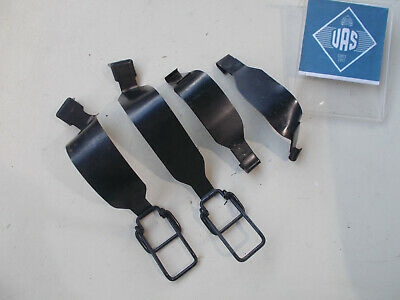 83 MERCEDES R107 380SL Rear trunk battery box metal Locking Straps SET 107712