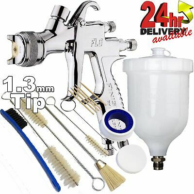 DeVilbiss FLG-G5 1.3mm Paint Spray Gun with 13 Piece Cleaning Kit
