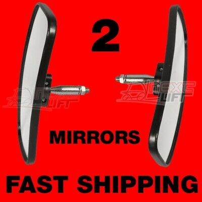 2 Universal Rearview Side Mirror Forklift Mirrors Golfcart Pair Two