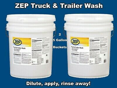 Pro Truck Trailer Vehicle Wash (2- 5 Gal Buckets) ZEP Premium Liquid Concentrate