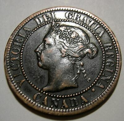 1 Cent 1896  VF+  Die Crack   (dirty)...(add lots $0.25 ea.)