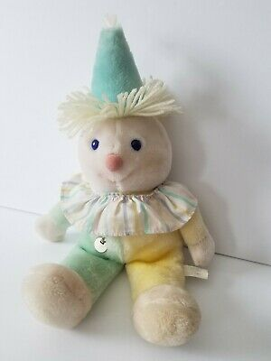 "Eden Pastel Clown 15"" Plush Musical Twinkle Little Star Baby Lovey Vintage 1980s"