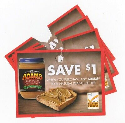 15x Save $1.00 on Adams Natural Peanut Butter Products Coups (Canada)