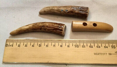 """ANTLER BUTTONS 8"""" And  Wood 6"""""""