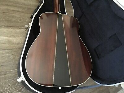 Yamaha FG340 Acoustic Concert Guitar 1970s Made In Taiwan and Original Hard case
