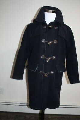 Brooks Brothers Wool Toggle Duffle Mens Plaid Lined Quality Hooded Coat  Size M