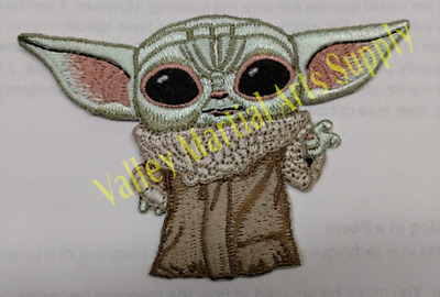 """Baby Yoda Mandalorian Embroidered Patch (4"""" wide x 2-3/4"""" tall) Iron on/Sew on"""