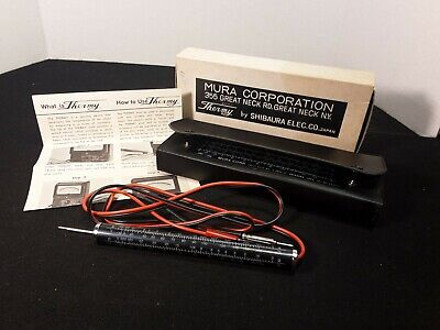 Vintage Mura Corporation Thermy Heat/Resistance Tester Shibaura Electrical Co.