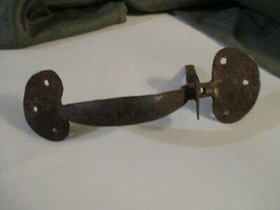VINTAGE NEW OLD STOCK BLACK FORGED CABINET DOOR LATCH COMBO 4389-F
