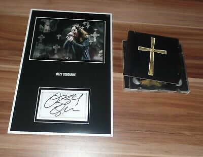 Ozzy Osbourne, Original Signed Collage Photo 7 7/8x11 13/16in (8x12) + CD