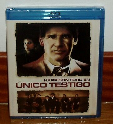 Unique Witness Blu-Ray New Sealed Harrison Ford Drama (Sleeveless Open) R2