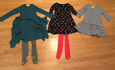 Kid cute ture, Old Navy, Oilily, Lot, Teal Dress, Tights, 5-6