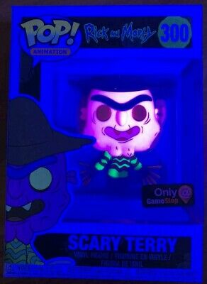 GameStop EXCLUSIVE Funko POP Neon Scary Terry #300 Rick and Morty Vinyl Figure