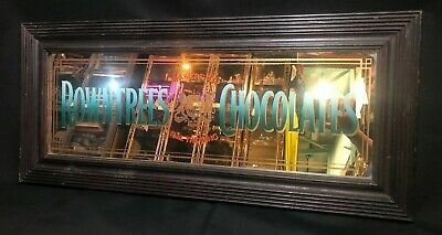 Vintage Framed Rowntree's Advertising Mirror, chocolates, Australia, 1960s, 70s
