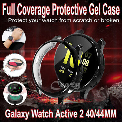 For Samsung Galaxy Watch Active 2 40/44MM Full Cover Protective Gel Case Cover