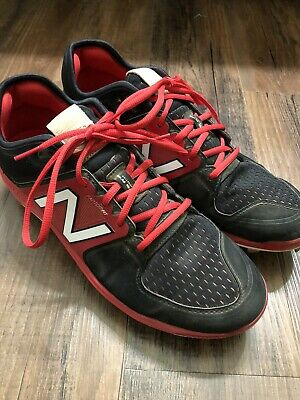 New Balance Low-Cut L3000v3 Metal Baseball Cleat Mens Shoes Red/black Size 11.5