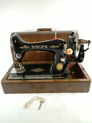 Vintage/Antique Singer Sewing Machine 99K Hand Cranked Working 1952