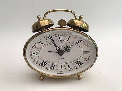 Stunning Vintage Estyma Brass Filigree Traditional Alarm Clock West Germany