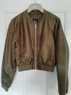 New Look Khaki Bomber Lined Jacket Age 12-13